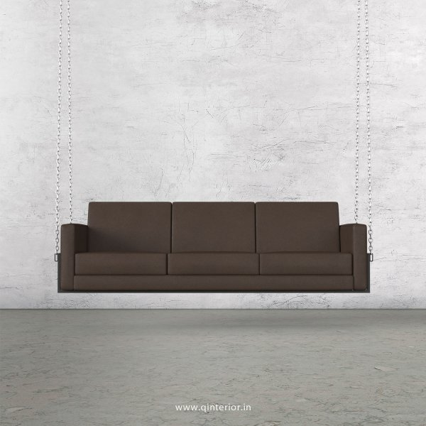 NIRVANA 3 Seater Swing Sofa in Fab Leather Fabric - SSF001 FL11