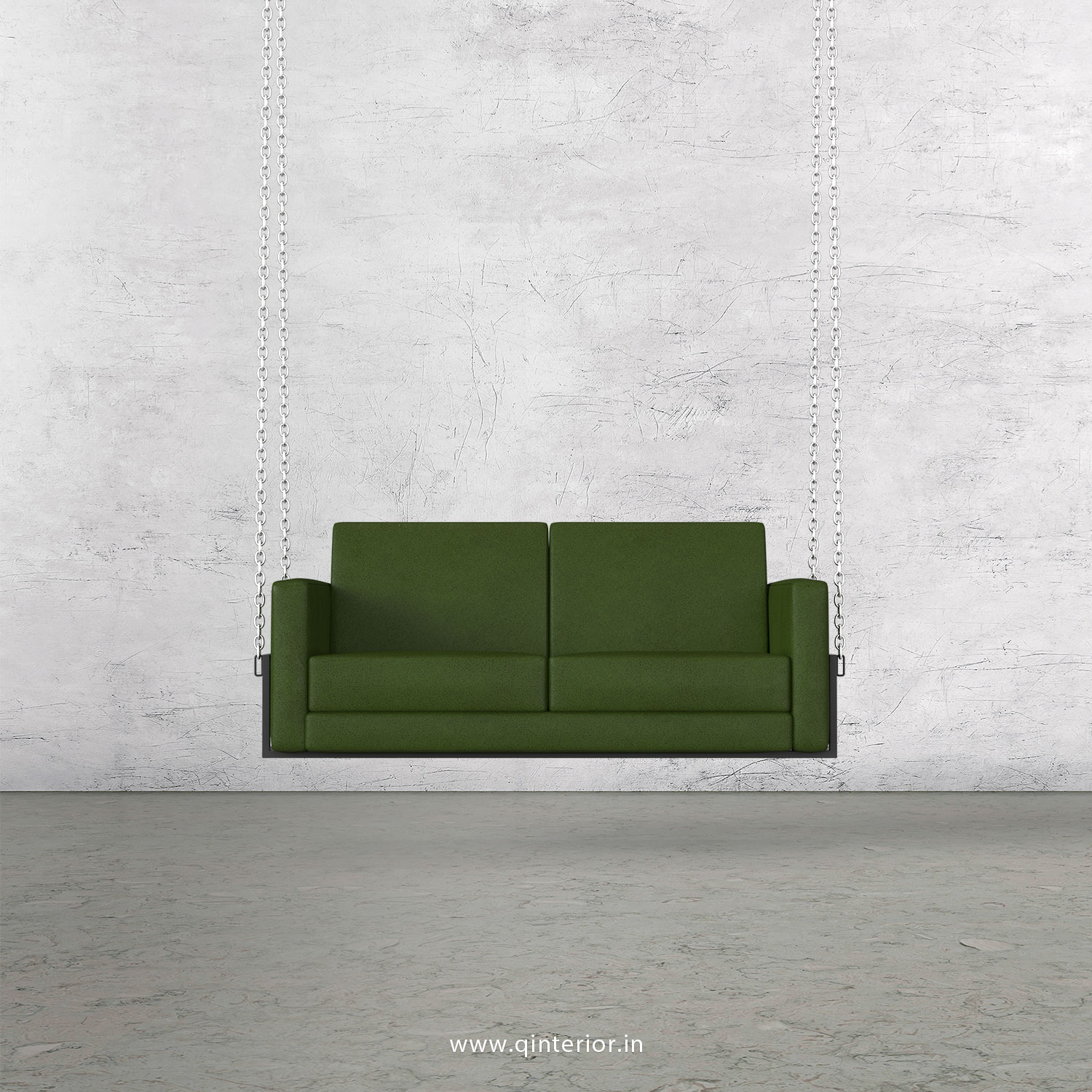 NIRVANA 2 Seater Swing Sofa in Fab Leather Fabric - SSF001 FL04