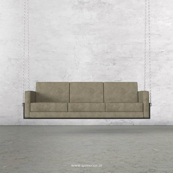 NIRVANA 3 Seater Swing Sofa in Fab Leather Fabric - SSF001 FL06