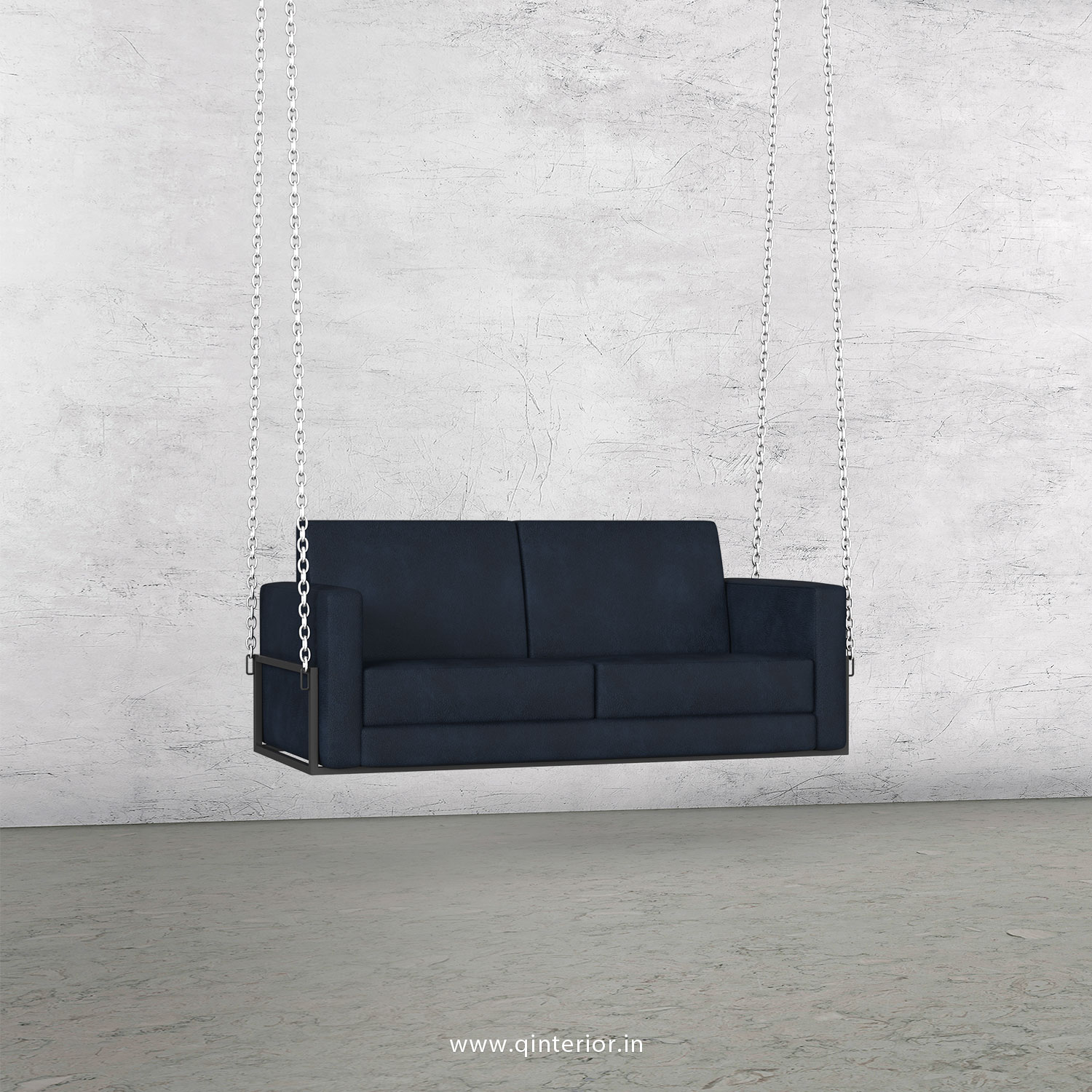 NIRVANA 2 Seater Swing Sofa in Fab Leather Fabric - SSF001 FL13