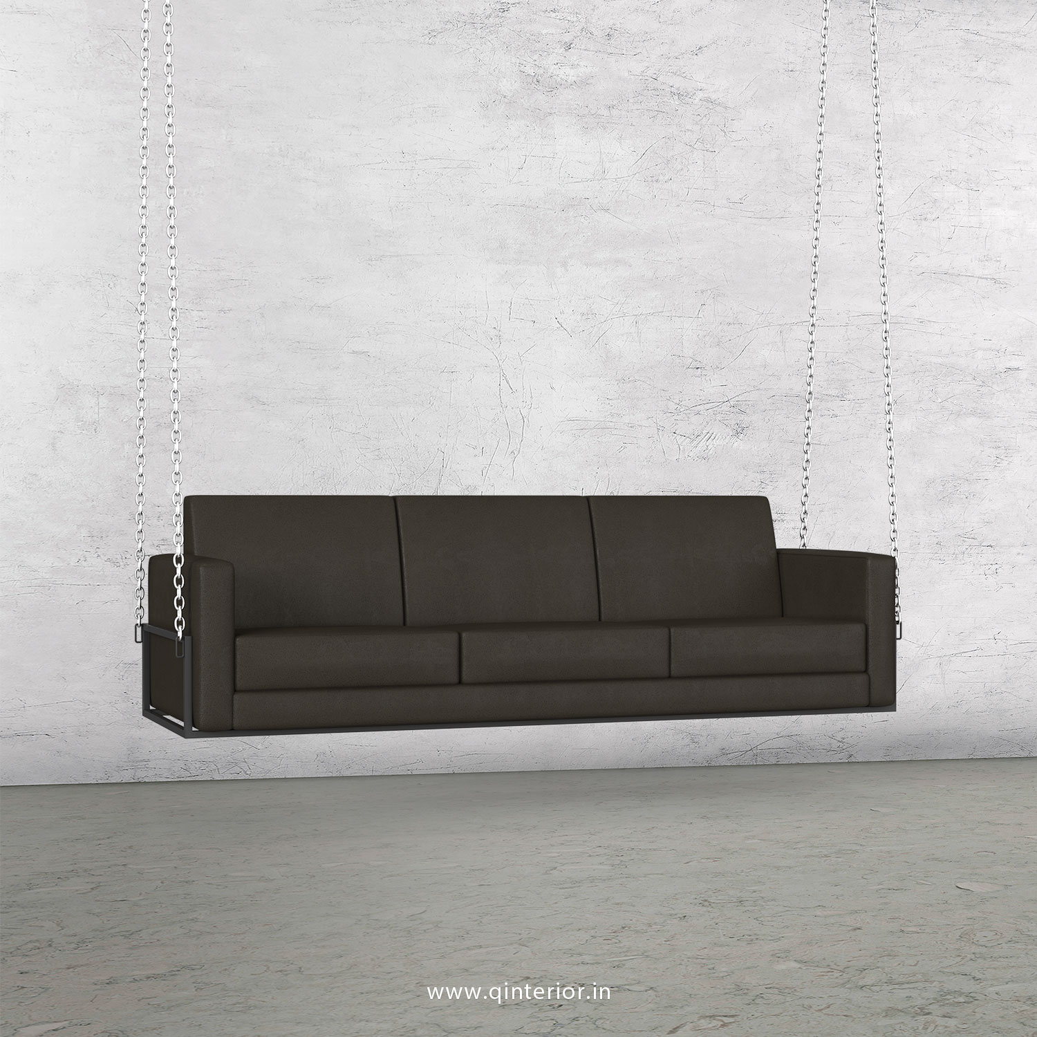NIRVANA 3 Seater Swing Sofa in Fab Leather Fabric - SSF001 FL15