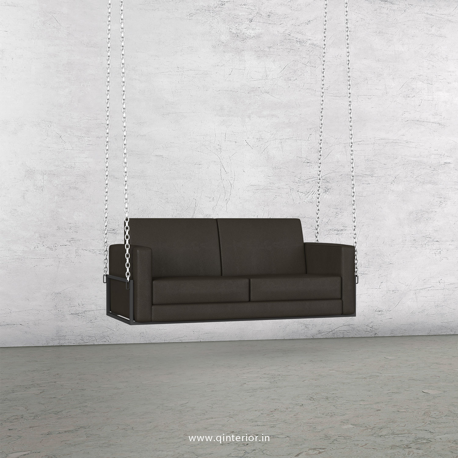 NIRVANA 2 Seater Swing Sofa in Fab Leather Fabric - SSF001 FL16