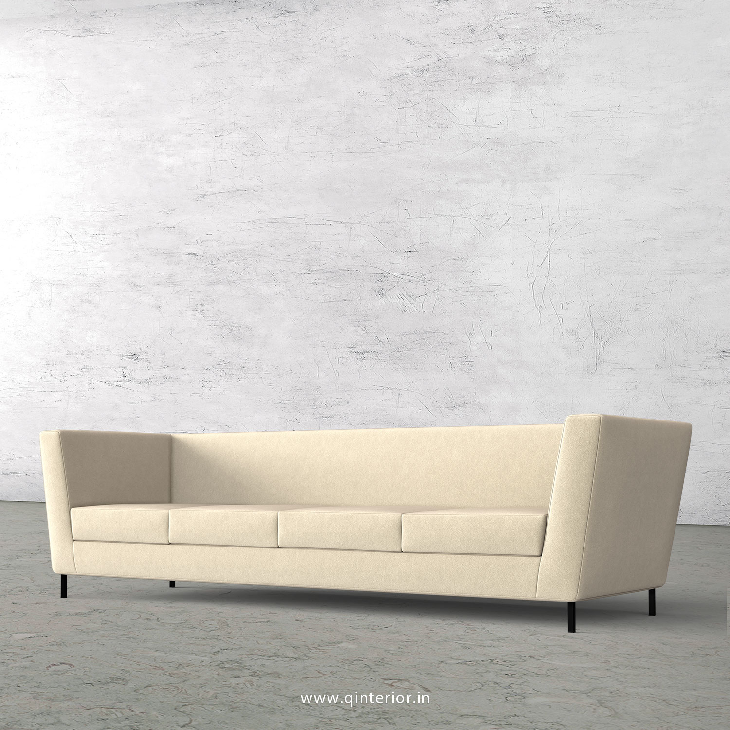 Gloria 4 Seater Sofa in Velvet Fabric - SFA018 VL01