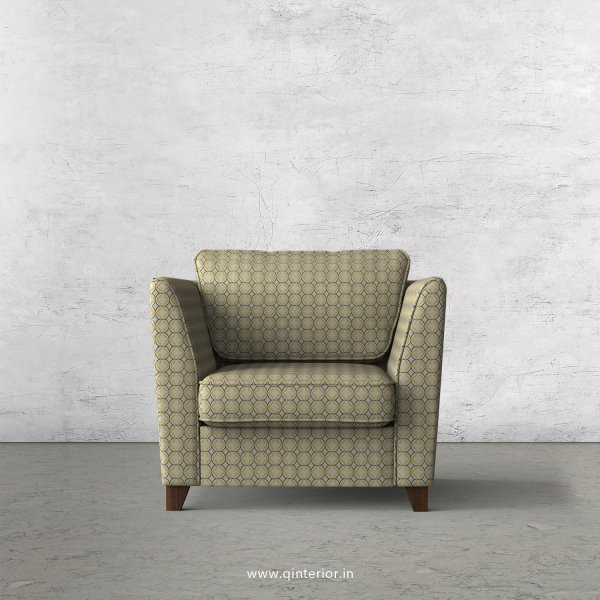 KINGSTONE 1 Seater Sofa in Jacquard Fabric - SFA004 JQ30