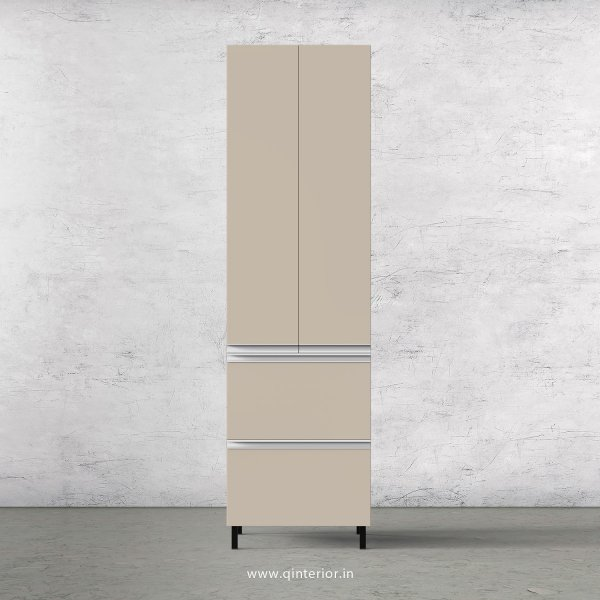 Lambent Kitchen Tall Unit in Teak and Irish Cream Finish - KTB803 C11