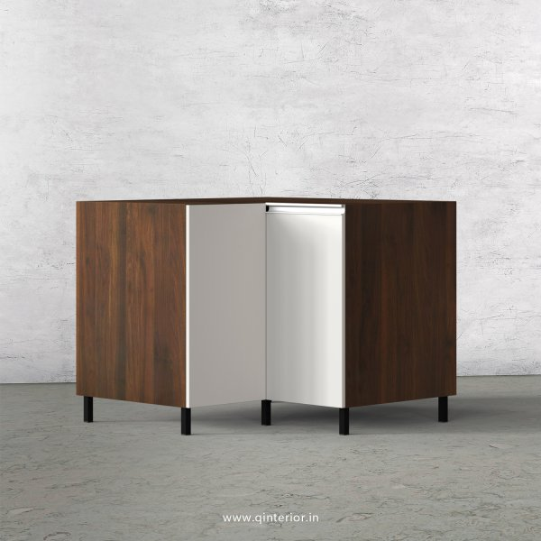 Lambent Kitchen Base Corner Unit in Walnut and Pale grey Finish - KBB808 C23