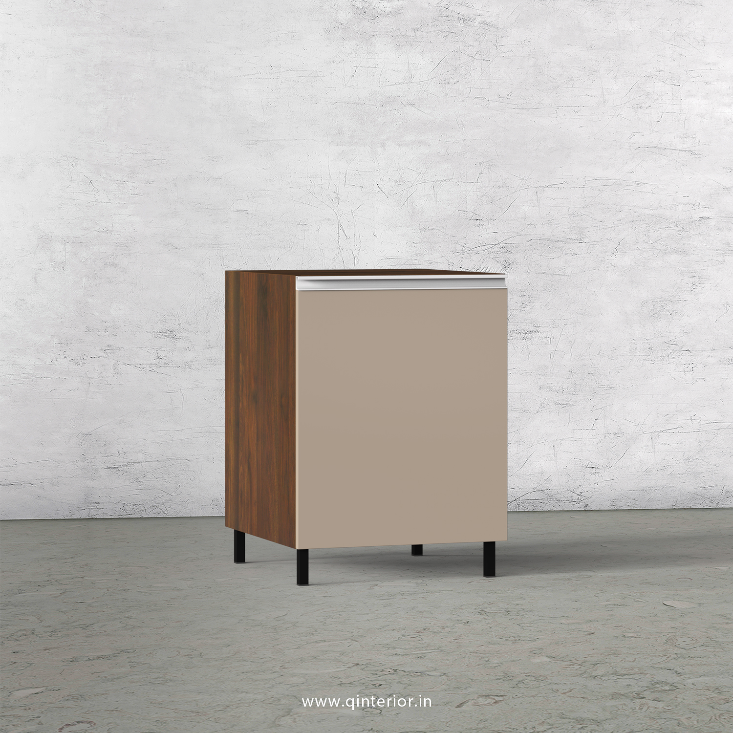 Lambent Kitchen Base Unit in Walnut and Cappuccino Finish - KBB802 C13