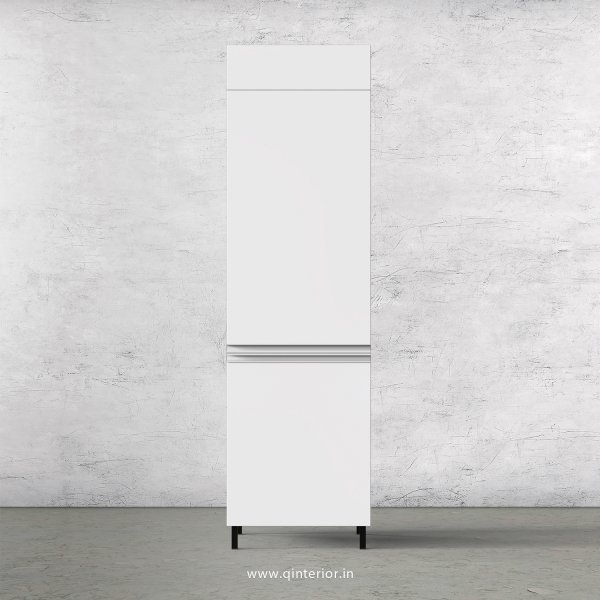 Lambent Refrigerator Unit in Walnut and White Finish - KTB806 C18