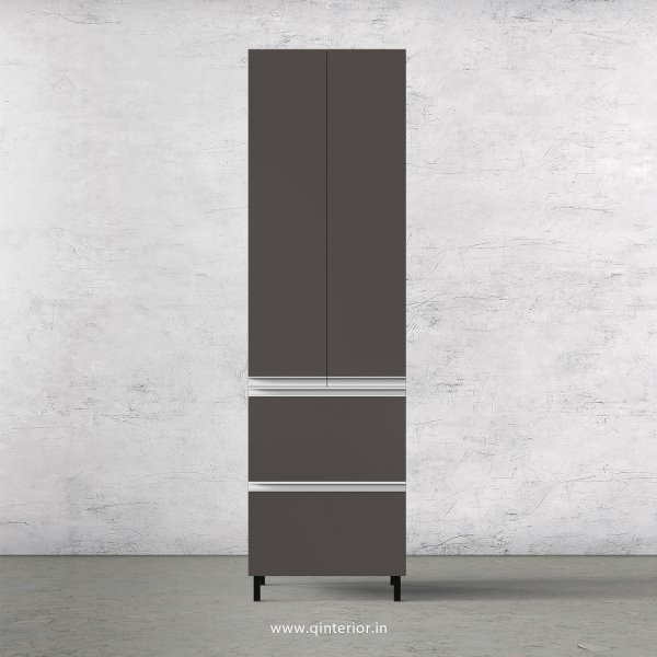 Lambent Kitchen Tall Unit in Teak and Slate Finish - KTB803 C15