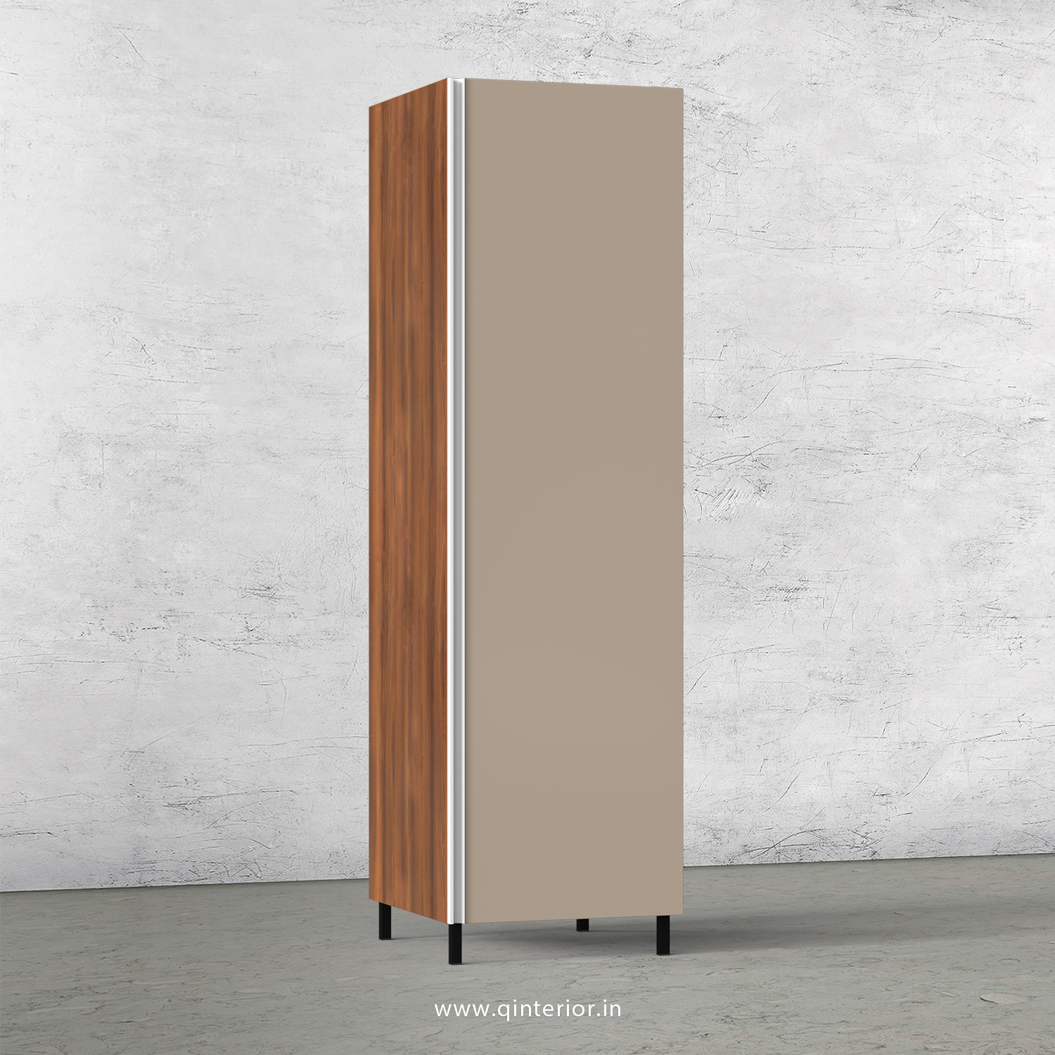 Lambent Kitchen Tall Unit in Teak and Cappuccino Finish - KTB801 C20