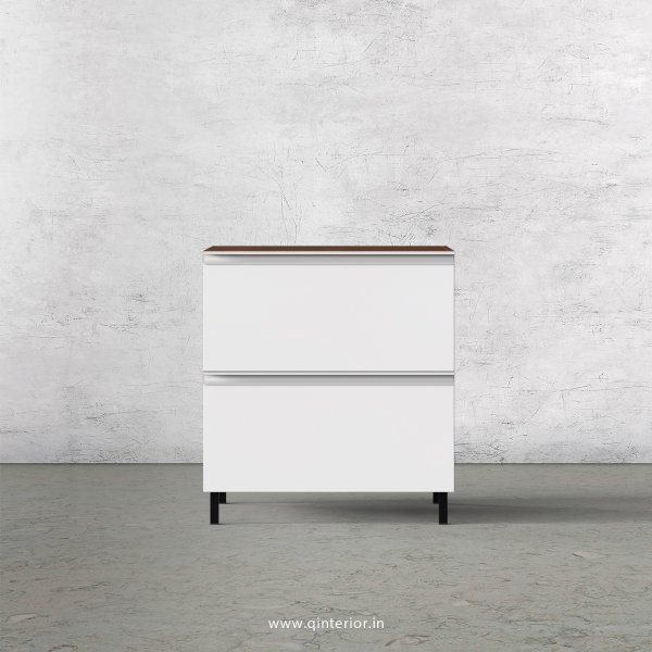 Lambent Kitchen Base Unit in Teak and White Finish - KBB804 C06