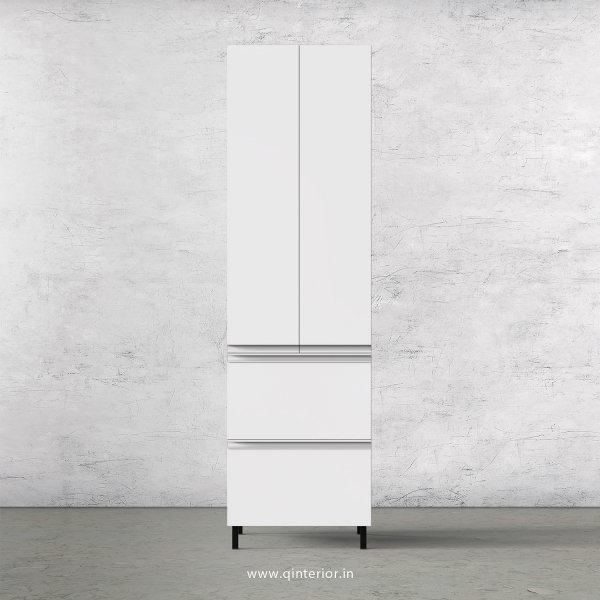 Lambent Kitchen Tall Unit in Teak and White Finish - KTB803 C06