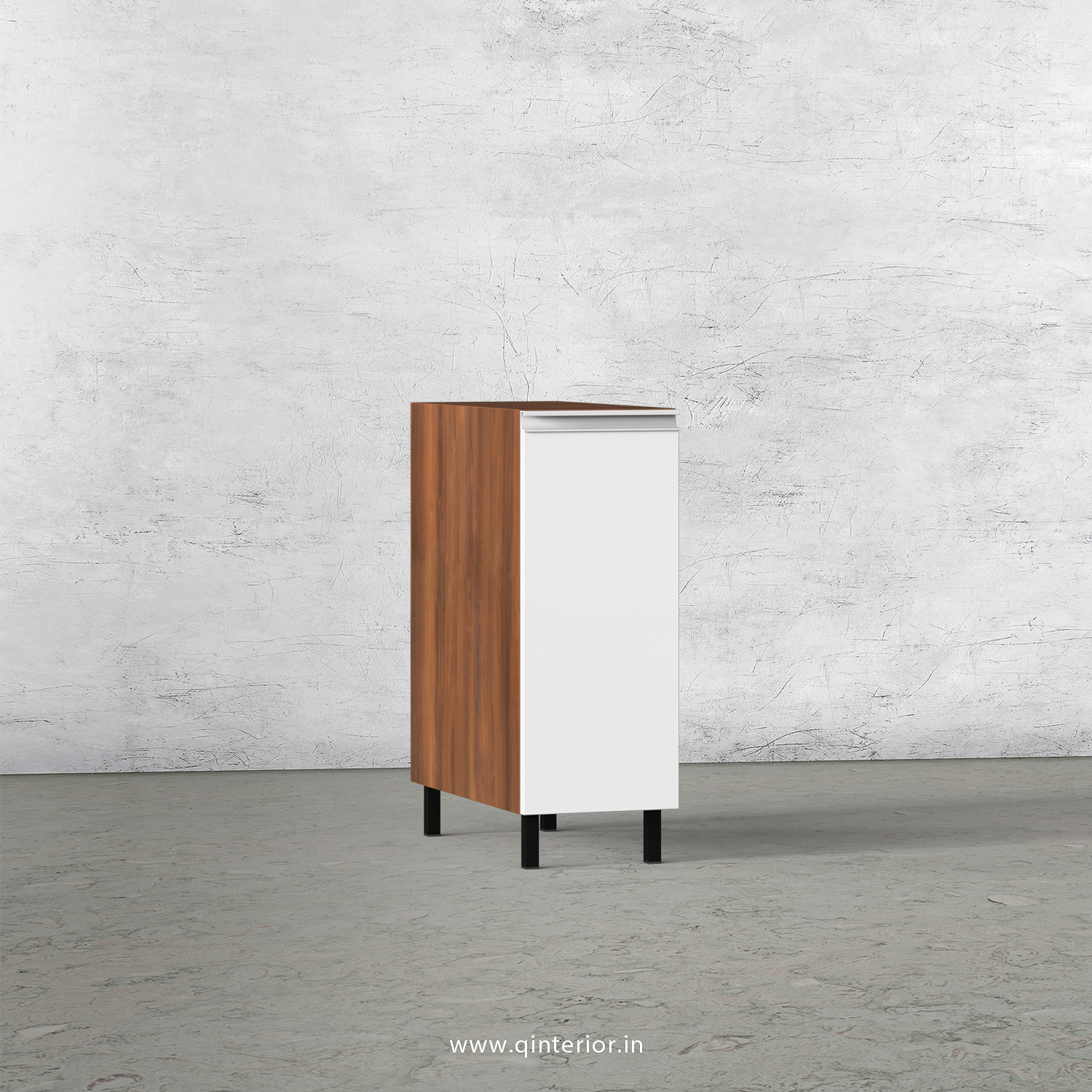 Lambent Kitchen Two Layer Pull Out Unit in Teak and White Finish - KBB801 C06