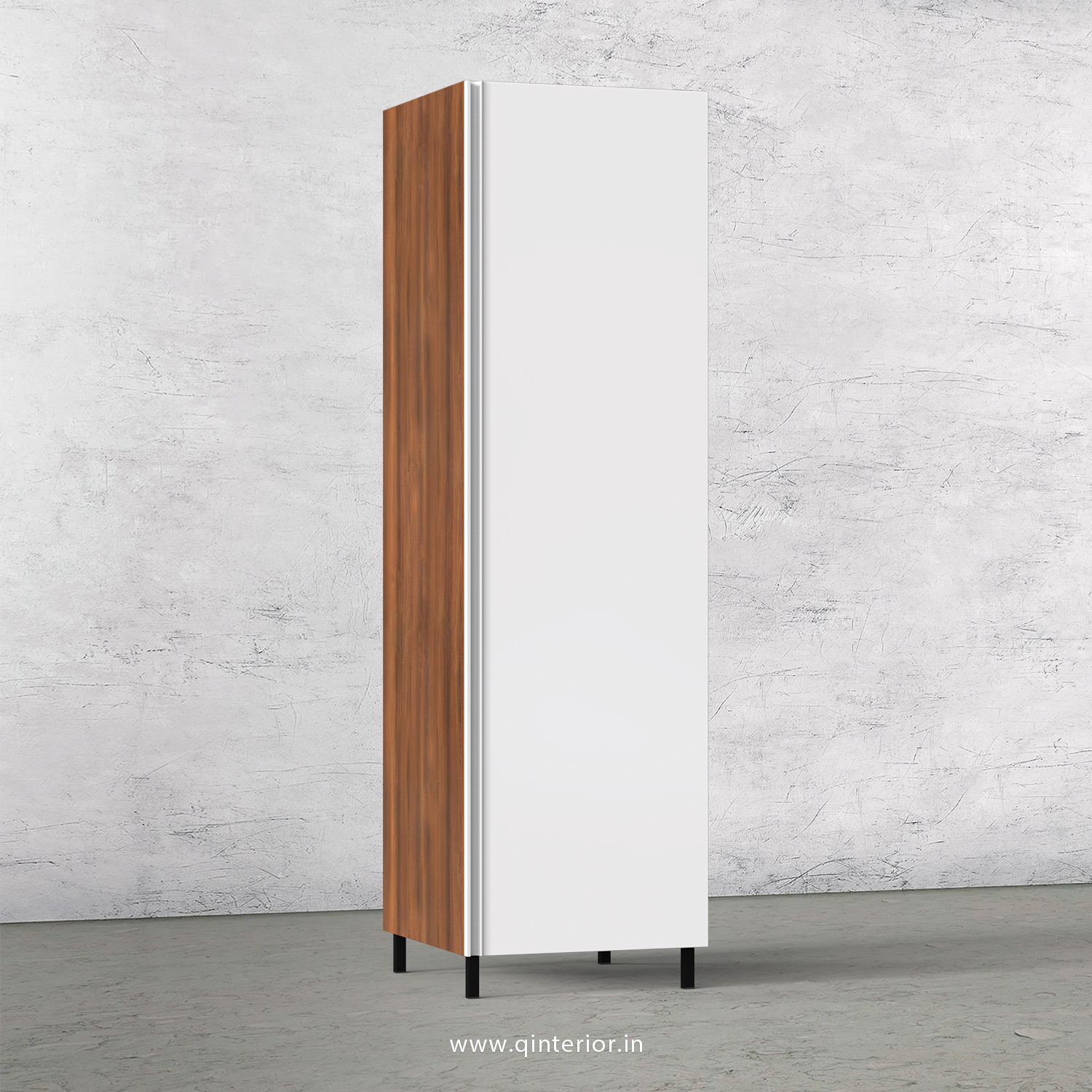 Lambent Kitchen Tall Unit in Teak and White Finish - KTB801 C06