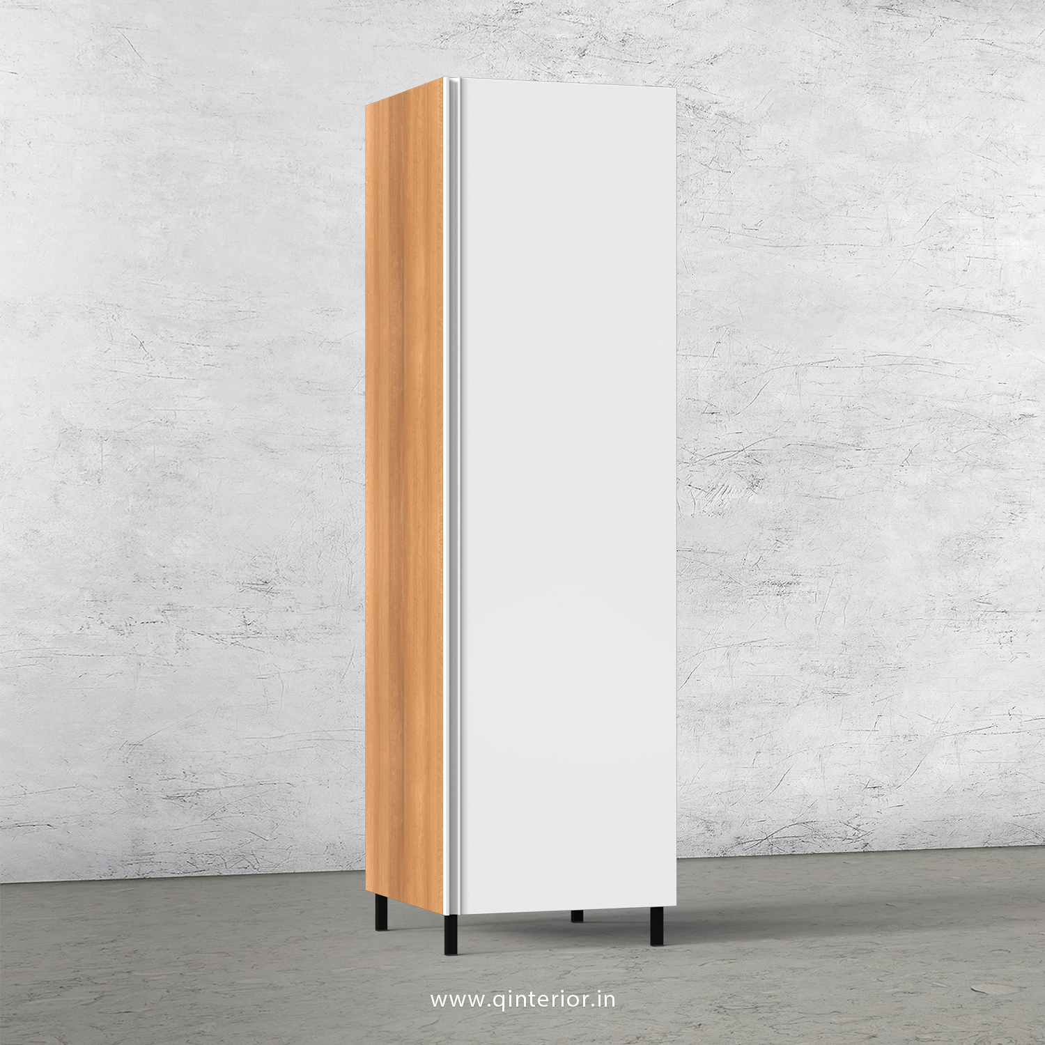 Lambent Kitchen Tall Unit in Oak and White Finish - KTB801 C08