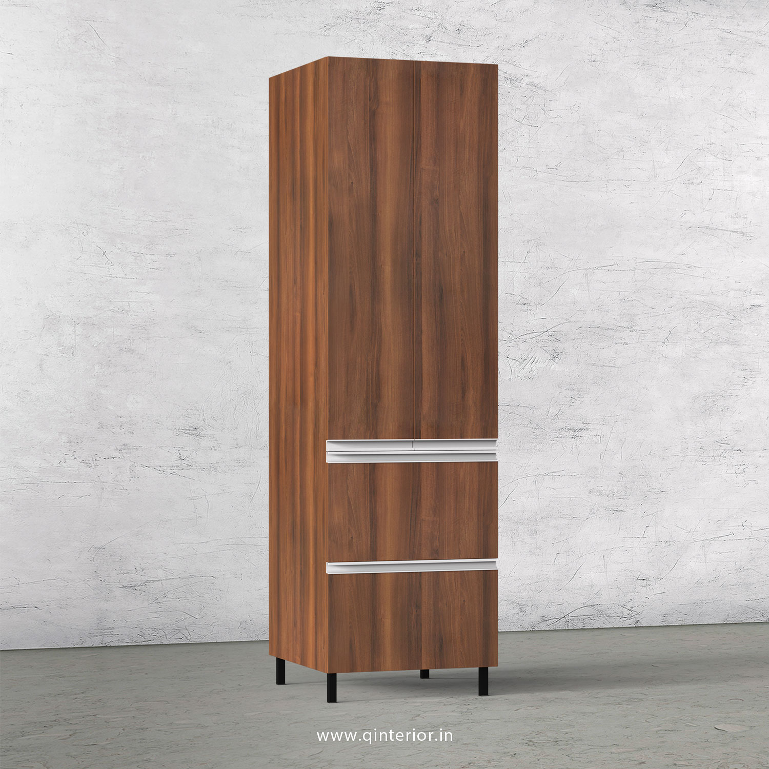 Stable Kitchen Tall Unit in Teak Finish - KTB802 C3