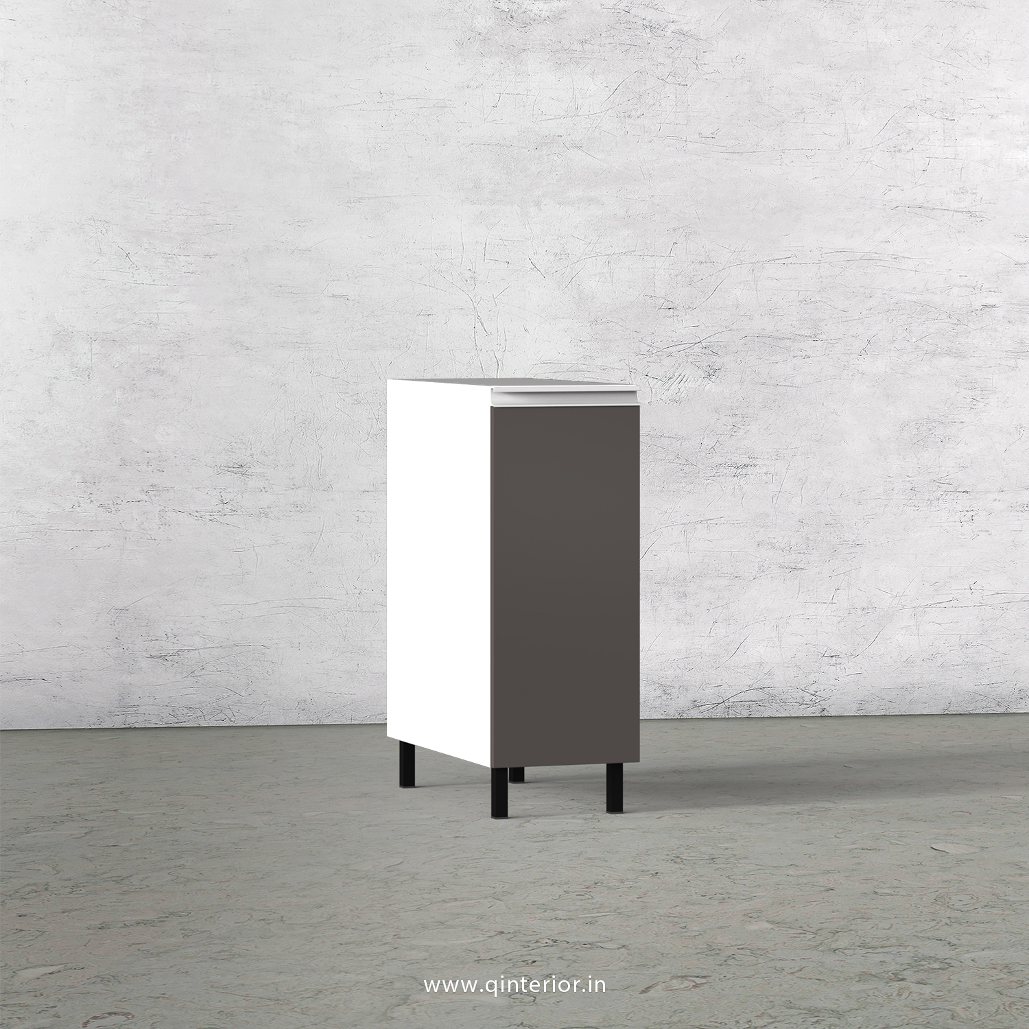 Lambent Kitchen Three Layer Pull Out Unit in White and Slate Finish - KBB809 C16