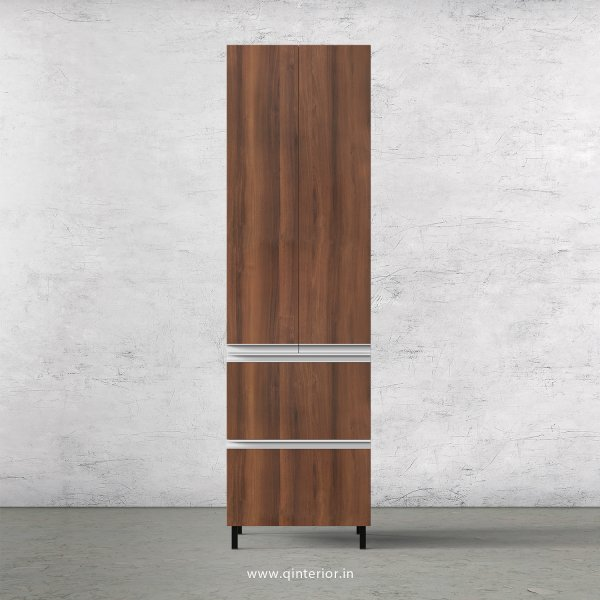 Lambent Kitchen Tall Unit in White and Teak Finish - KTB803 C09