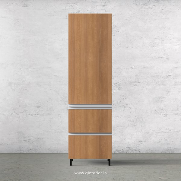 Lambent Kitchen Tall Unit in White and Oak Finish - KTB802 C86