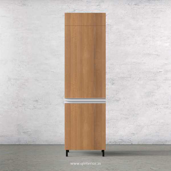 Lambent Refrigerator Unit in White and Oak Finish - KTB806 C86