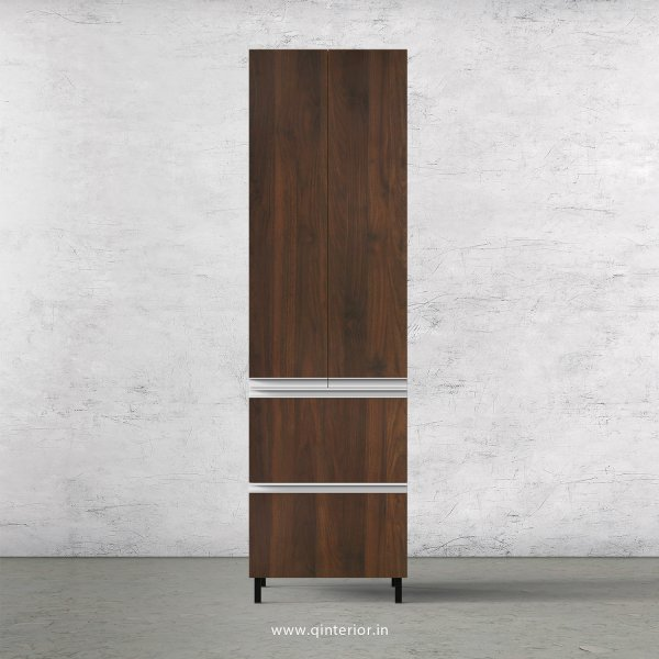 Lambent Kitchen Tall Unit in White and Walnut Finish - KTB803 C67