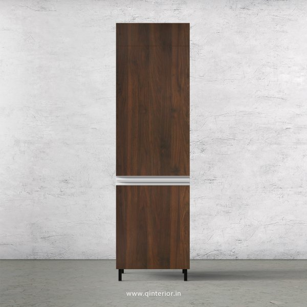 Lambent Refrigerator Unit in White and Walnut Finish - KTB806 C67