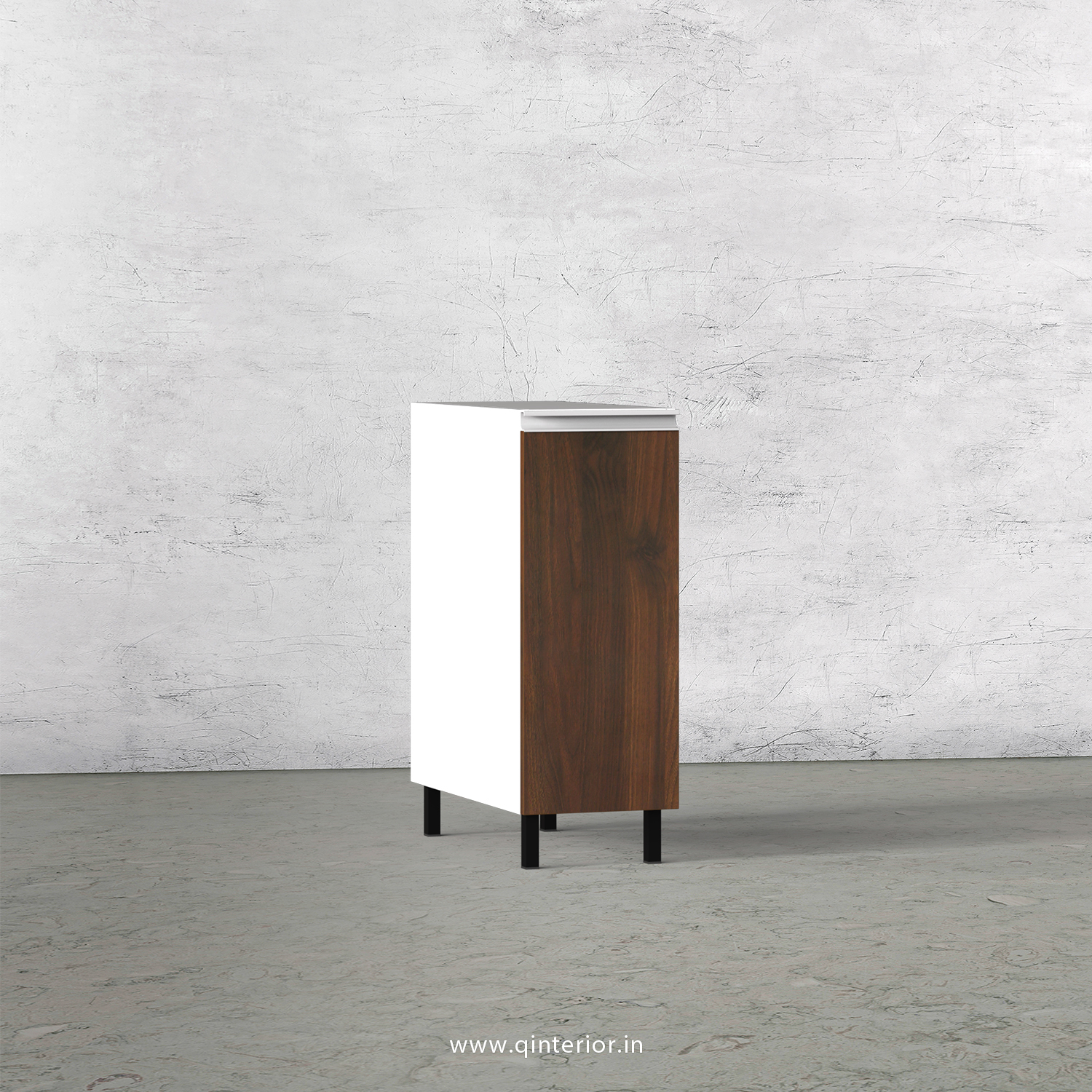 Lambent Kitchen Two Layer Pull Out Unit in White and Walnut Finish - KBB801 C67