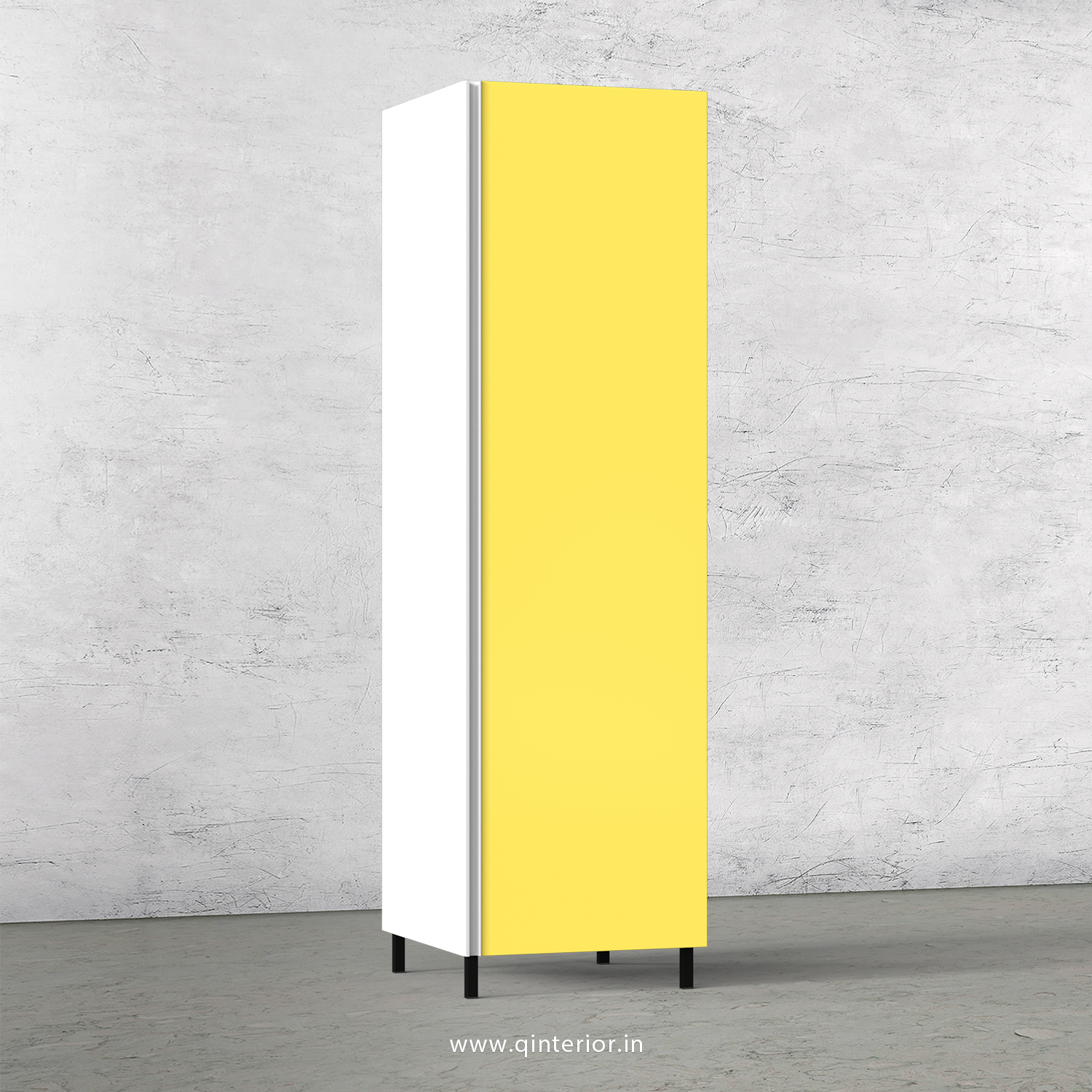 Lambent Kitchen Tall Unit in White and Marigold Finish - KTB801 C89
