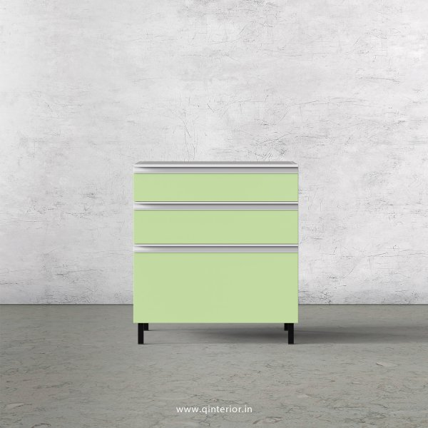 Lambent Kitchen Base Unit in White and Pairie Green Finish - KBB805 C83