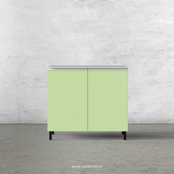 Lambent Kitchen Base Sink Unit in White and Pairie Green Finish - KBB806 C83