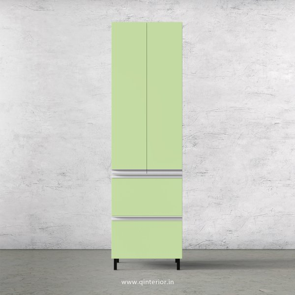 Lambent Kitchen Tall Unit in White and Pairie Green Finish - KTB803 C83