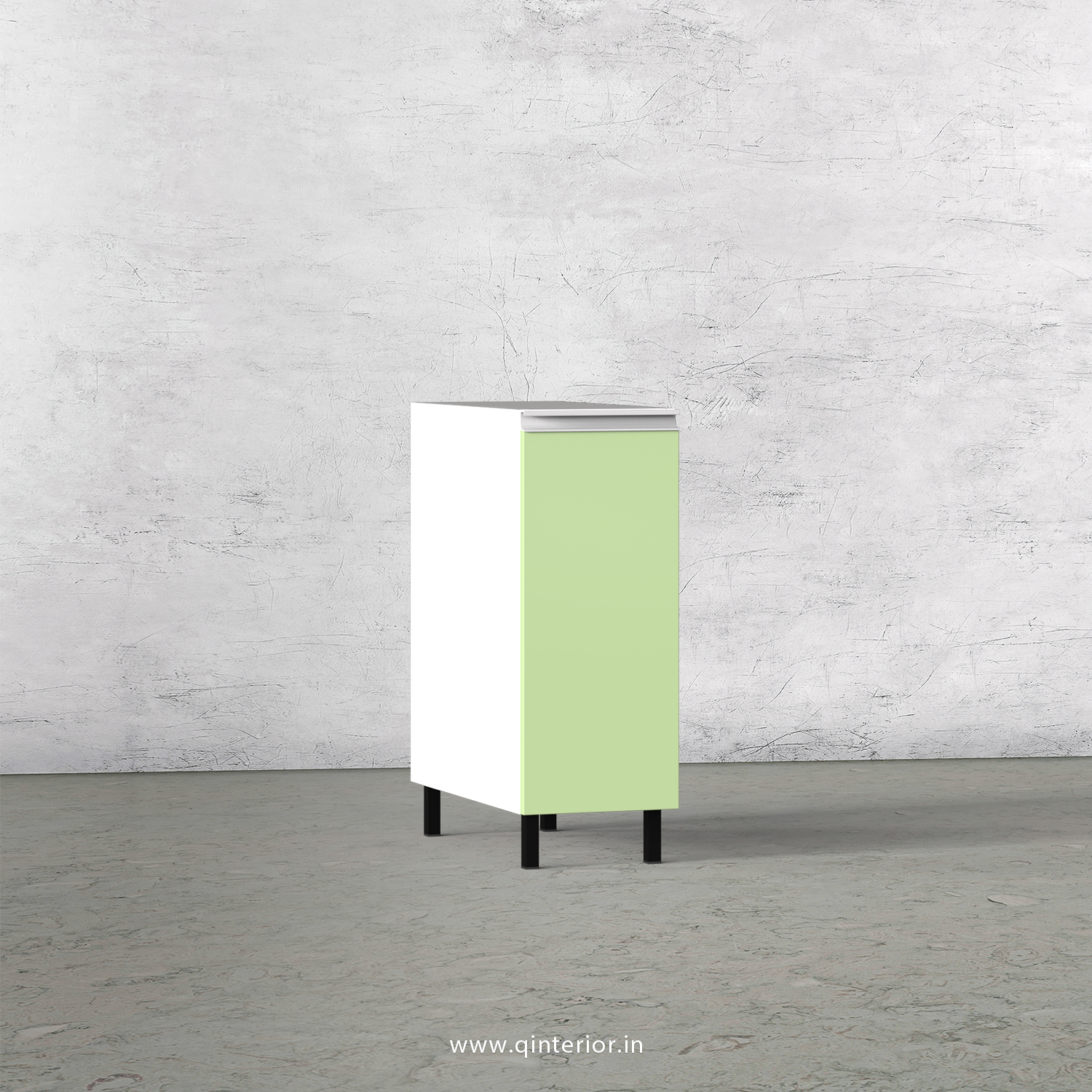 Lambent Kitchen Two Layer Pull Out Unit in White and Pairie Green Finish - KBB801 C83