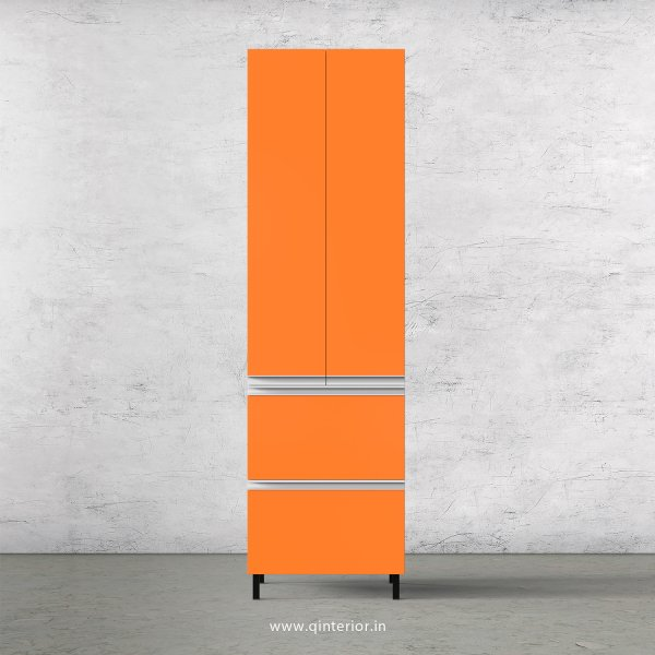 Lambent Kitchen Tall Unit in White and Saffron Finish - KTB803 C90