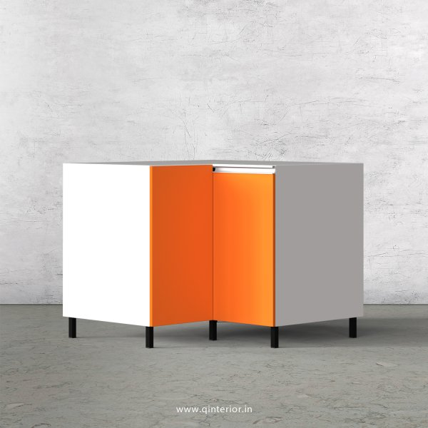 Lambent Kitchen Base Corner Unit in White and Marigold Finish - KBB808 C89