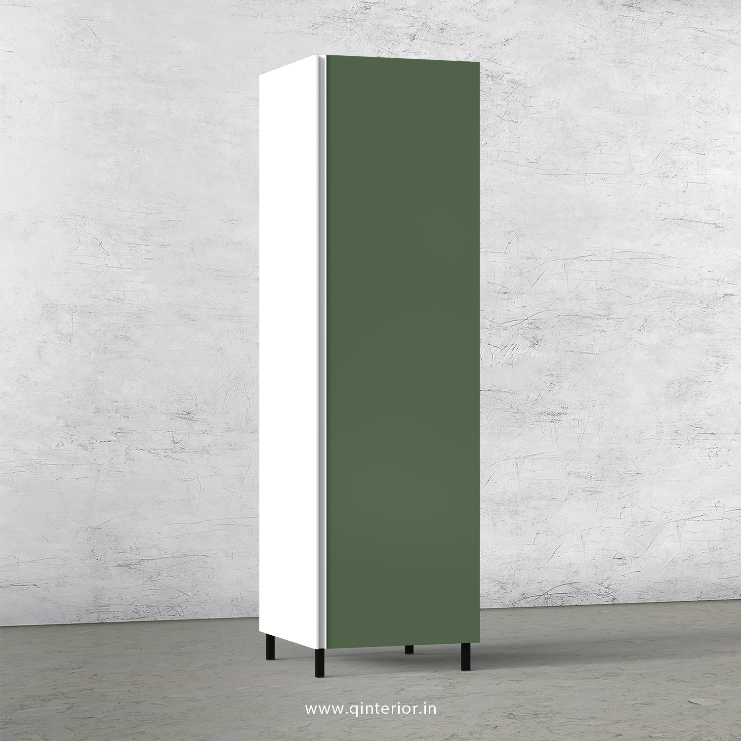 Lambent Kitchen Tall Unit in White and English Ivy Finish - KTB801 C82