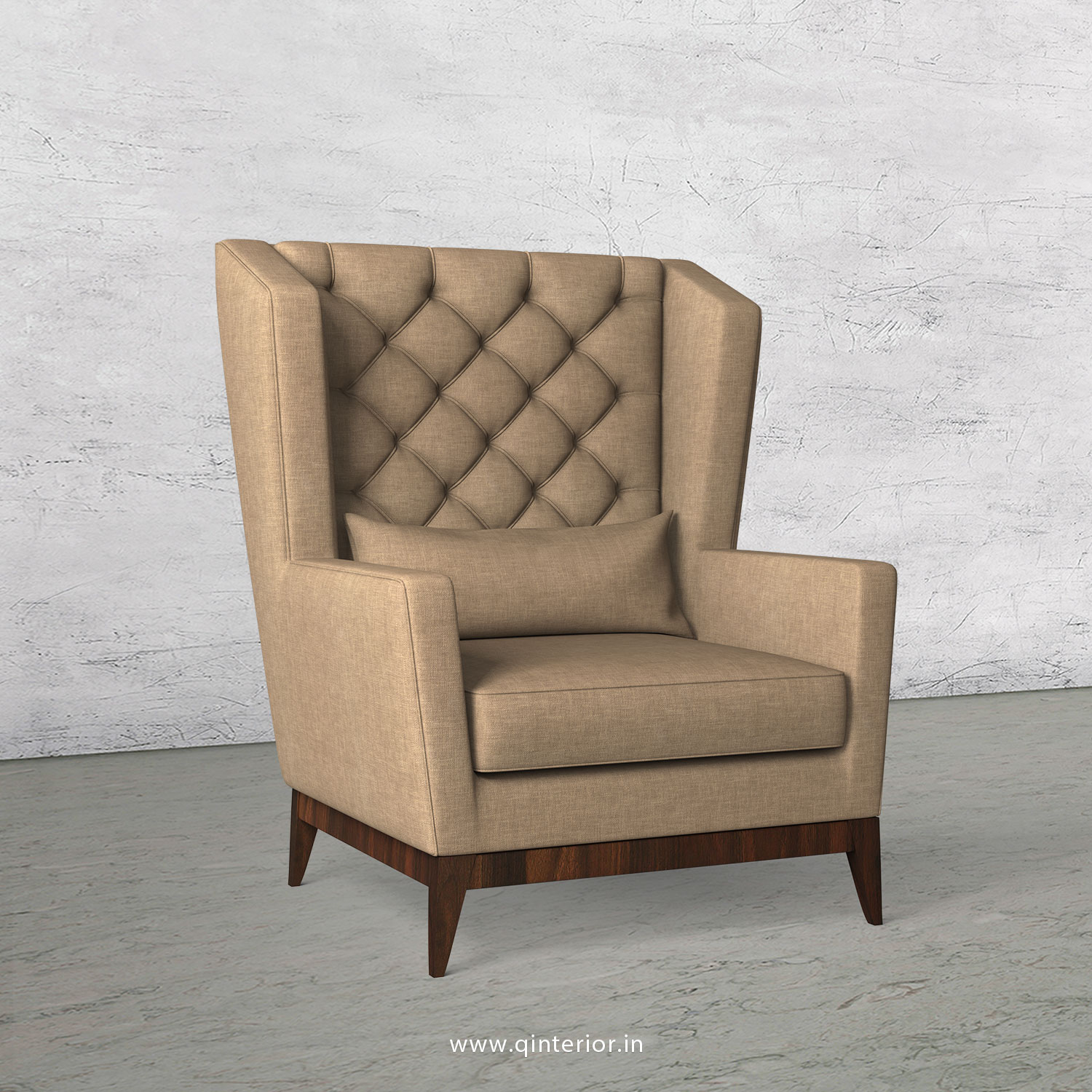 OSCAR Arm Chair in Cotton Plain - ARM012 CP08
