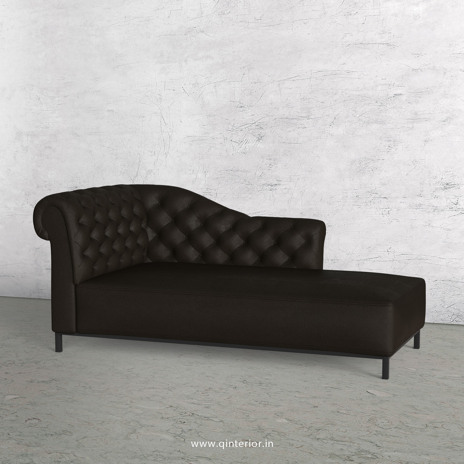 Amour Lounger Chaise in Fab Leather - LCH001 FL11