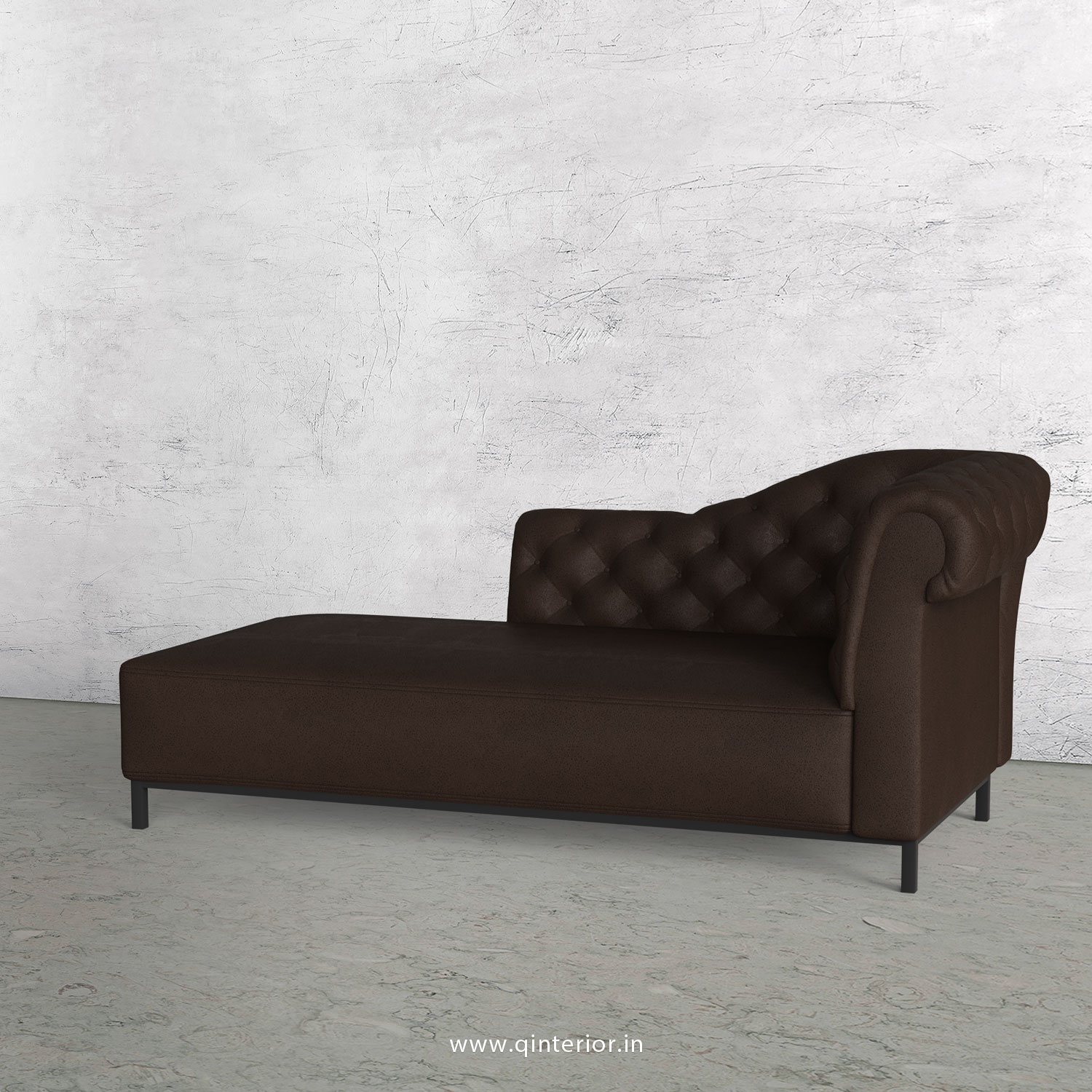 Amour Lounger Chaise in Fab Leather - LCH001 FL16