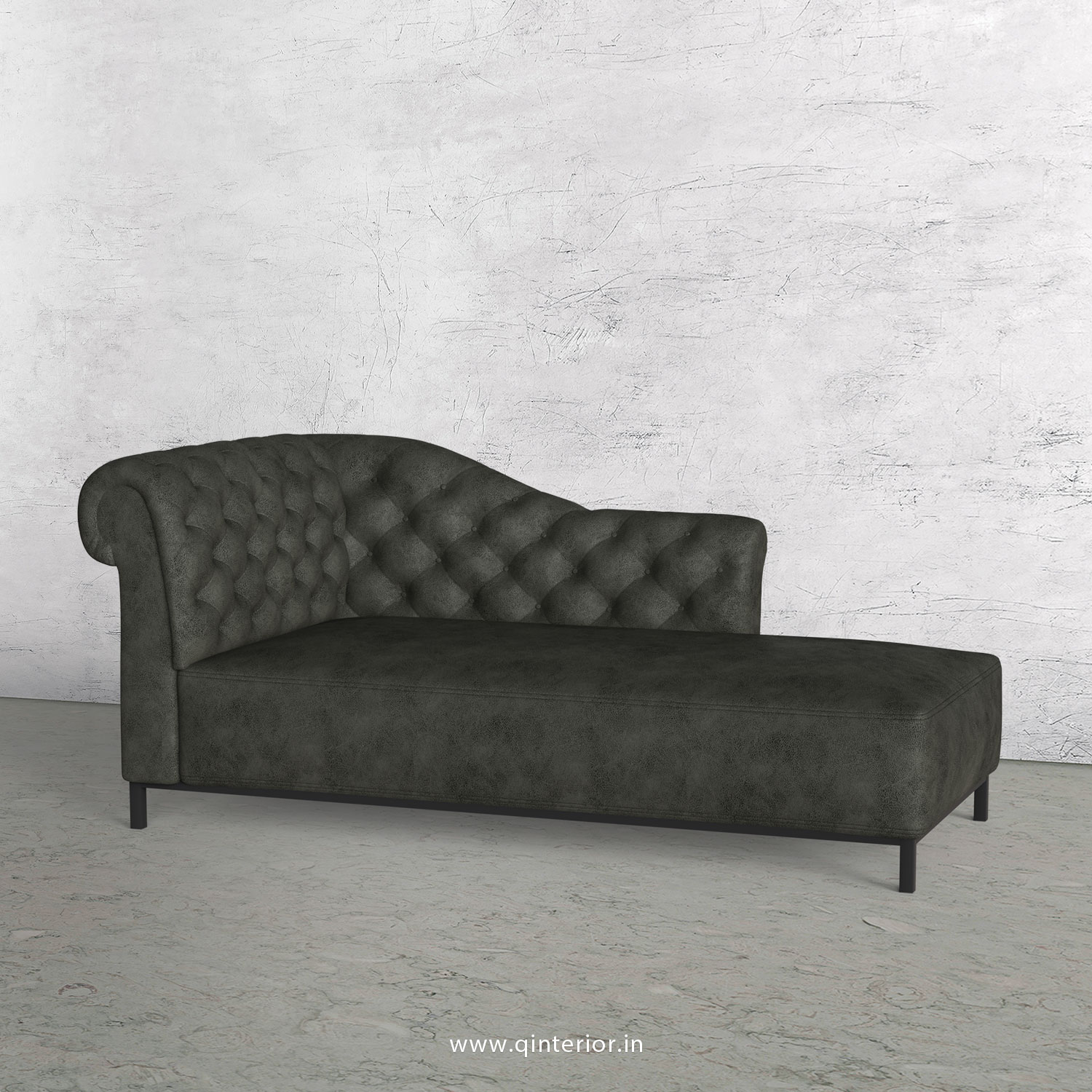 Amour Lounger Chaise in Fab Leather - LCH001 FL07