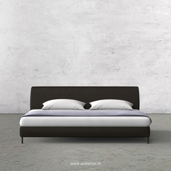 Luxura King Size Bed in Fab Leather Fabric - KBD003 FL11