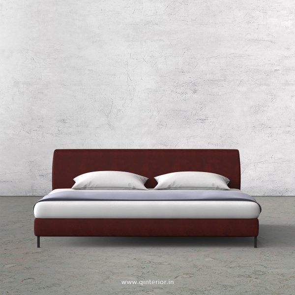 Luxura King Size Bed in Fab Leather Fabric - KBD003 FL17