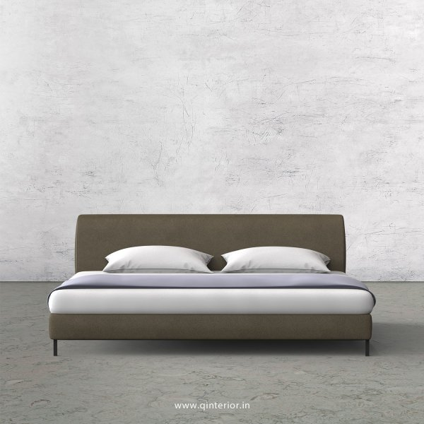 Luxura King Size Bed in Fab Leather Fabric - KBD003 FL06