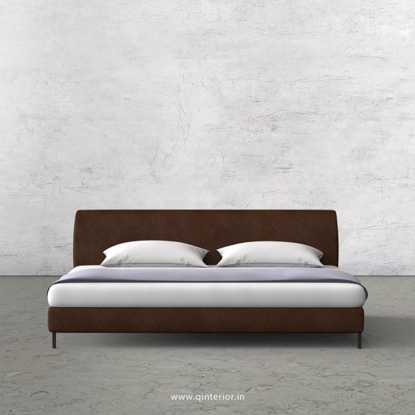 Luxura King Size Bed in Fab Leather Fabric - KBD003 FL09