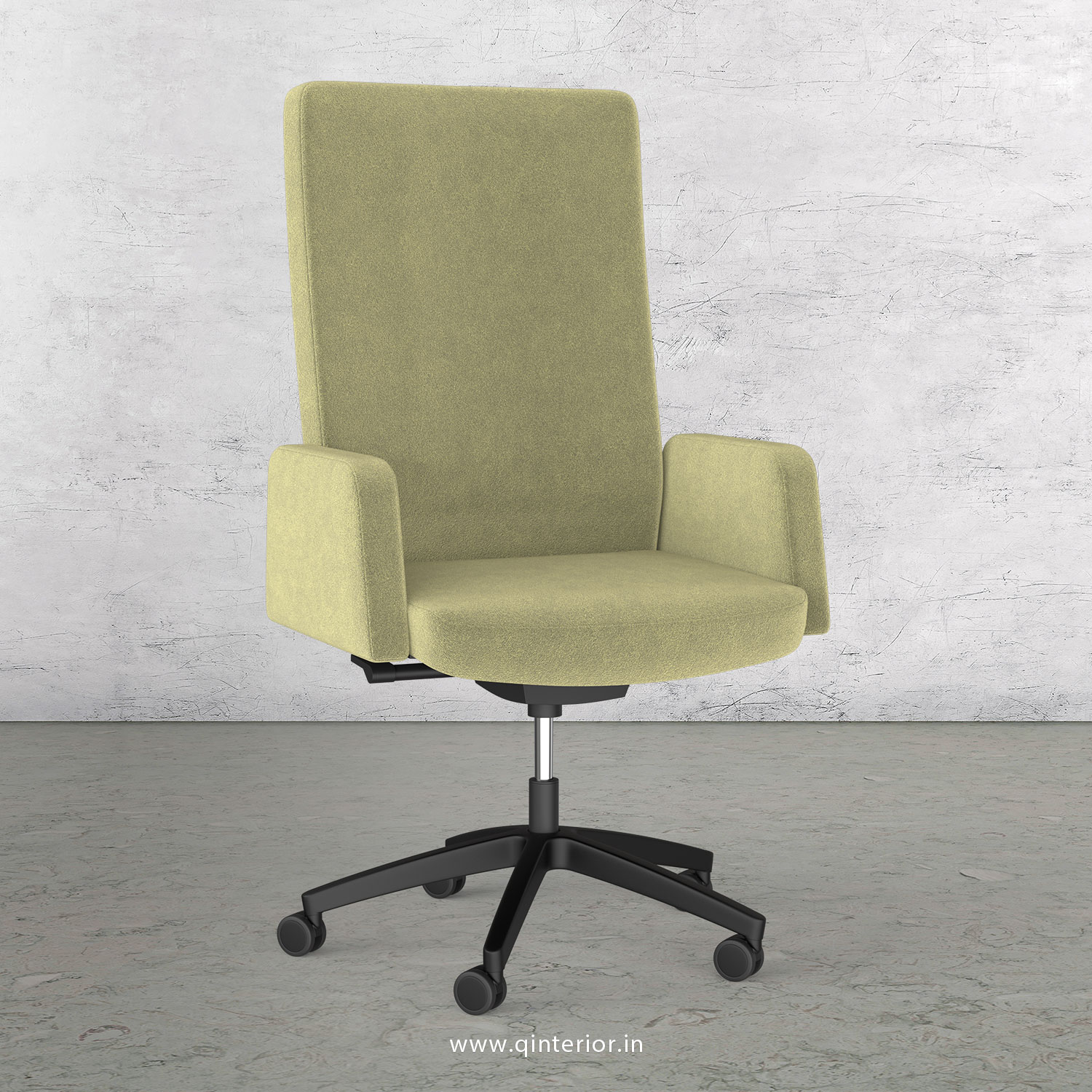 Office ArmRest Chair in Velvet Leather - OEC001