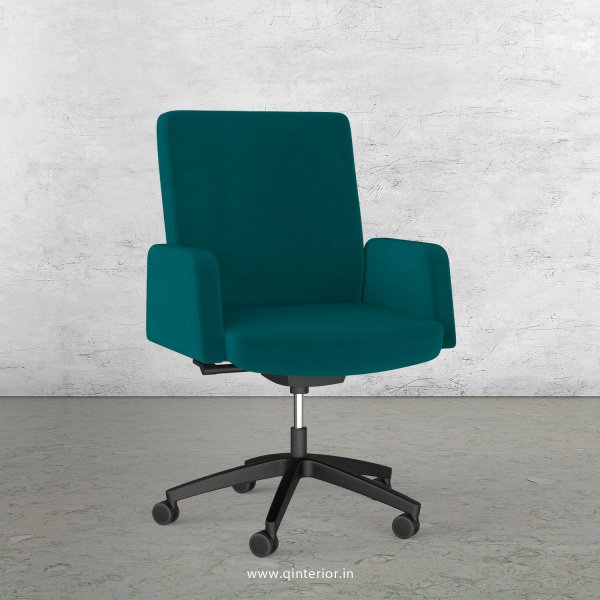 Office ArmRest Chair in Velvet Leather - OSC001
