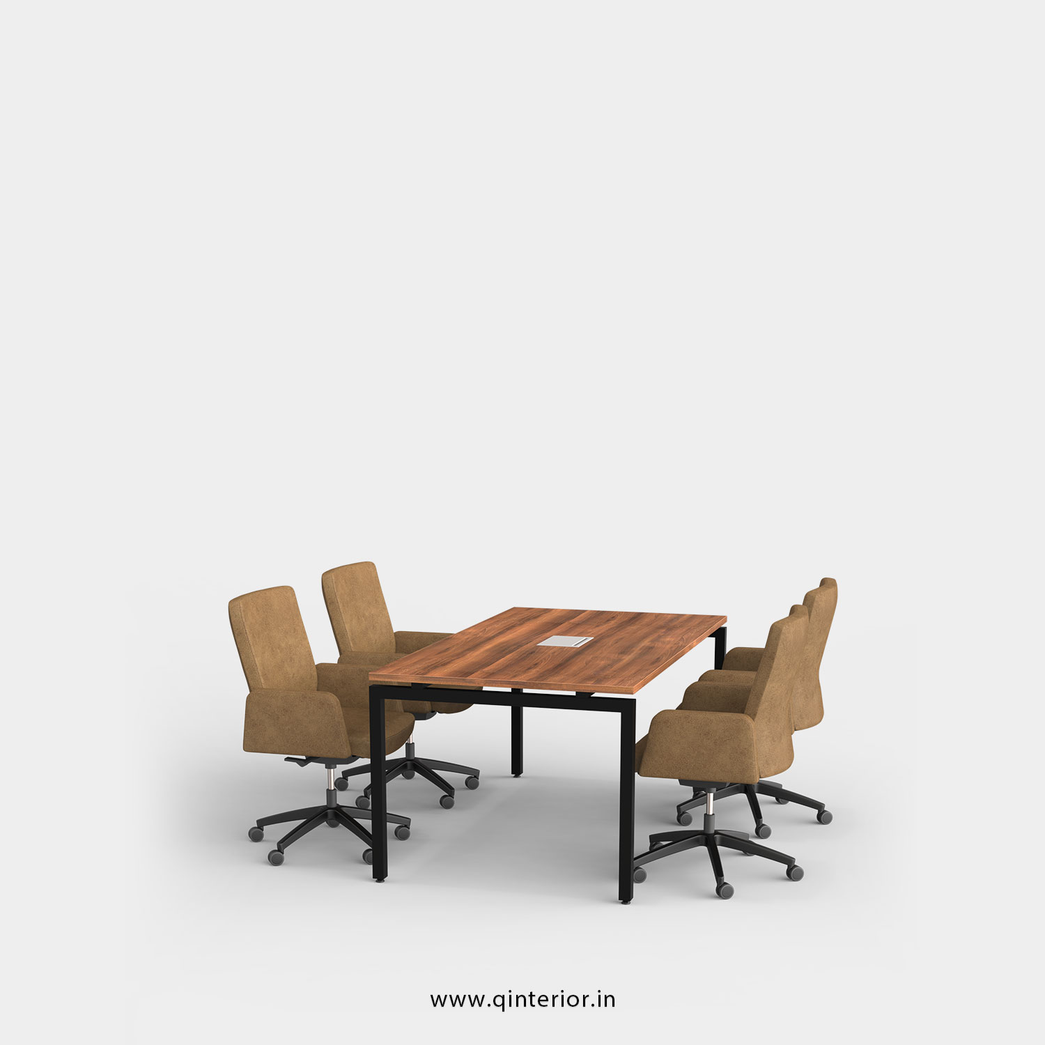 Montel Meeting Table in Teak Finish – OMT001 C3