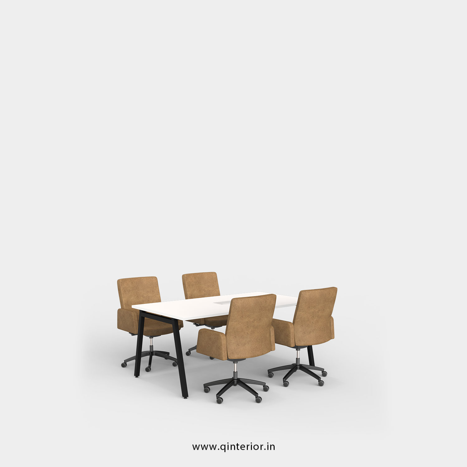 Berg Meeting Table in White Finish - OMT001 C4