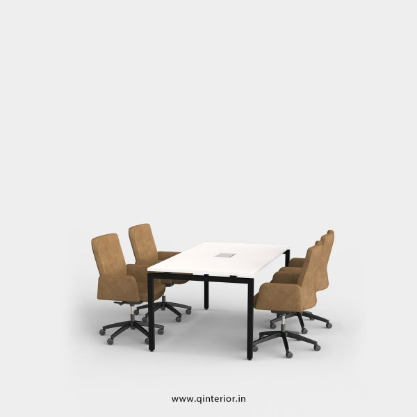 Montel Meeting Table in White Finish - OMT001 C4