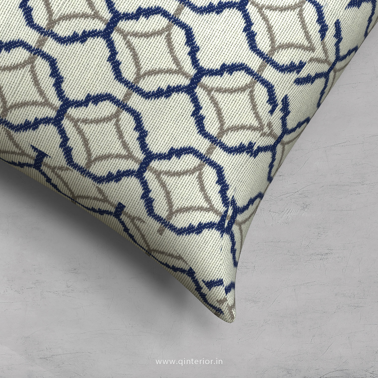 Blue Jaquard Cushion With Cushion Cover - CUS001 JQ