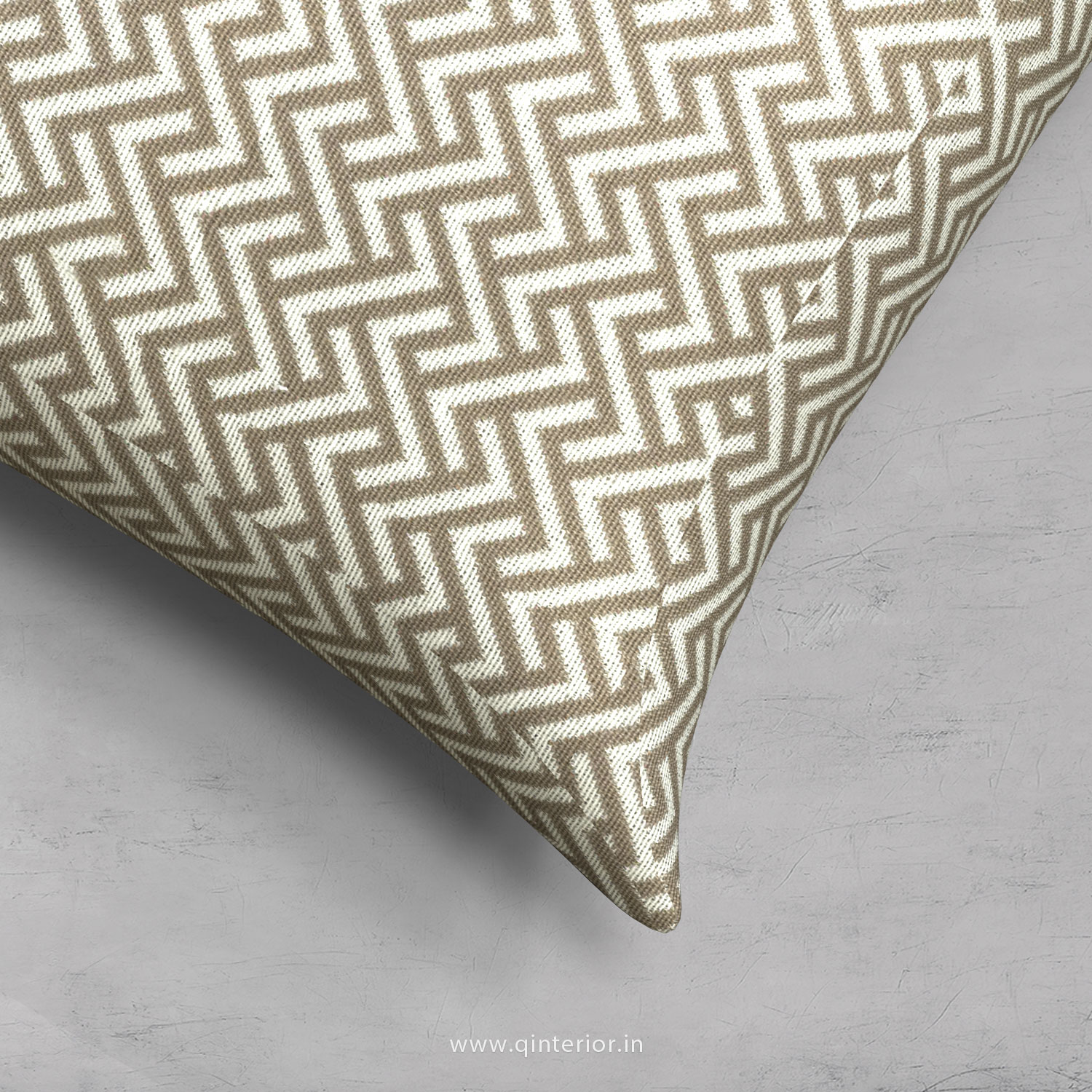 Light Grey Zigzag Cushion With Cushion Cover - CUS001 BG